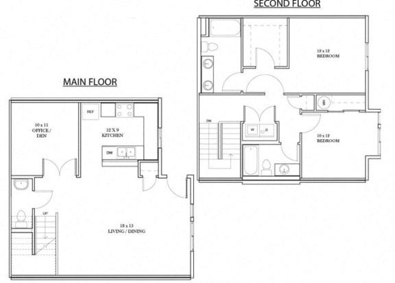 Floor Plan  Stowe Floorplan at Discovery Heights, Issaquah, WA