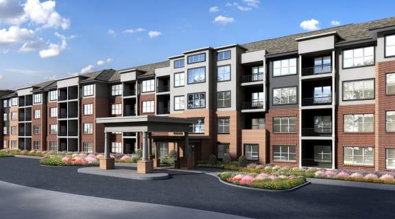 Elegant Exterior View at Preserve at Peachtree Shoals 55+ Apartments, Dacula, GA, 30019