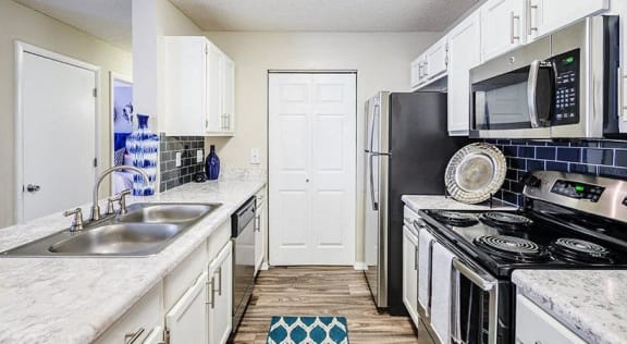 Kitchen in Cary Apartments