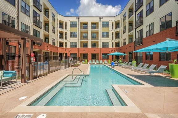 Pool With Sunning Deck at The Lincoln, North Carolina, 27601
