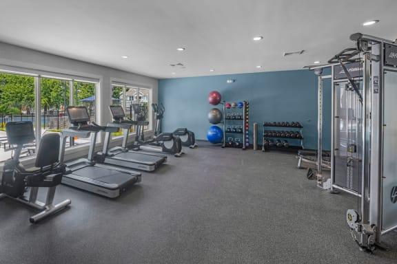 24-Hour Fitness Center, Cambridge Apartments, NC