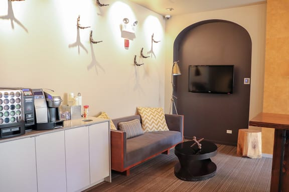 Updated Lobby at Reside at Belmont Harbor, Chicago, IL 60657