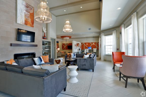 Stunning clubhouse lounge area at The Columns at Coldbrook Station, Port Wentworth, GA 31407