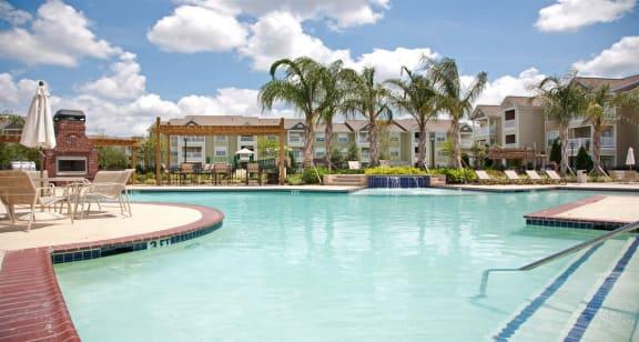 Sparkling resort style swimming pool, Houma Highlands, Houma, LA 70360