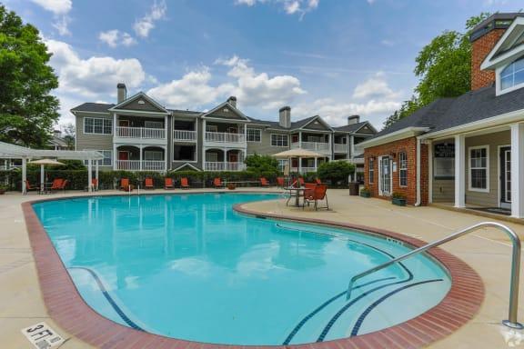 Sparkling Swimming Pool at The Columns at Club Drive, 3920 Club Drive, Duluth, GA 30096