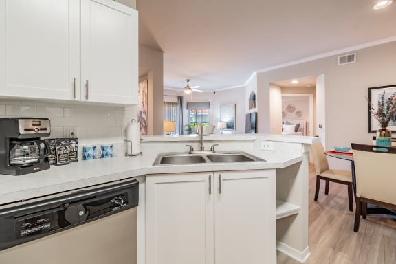 Open concept Kitchen at Portofino Apartment Homes, Tampa, Florida