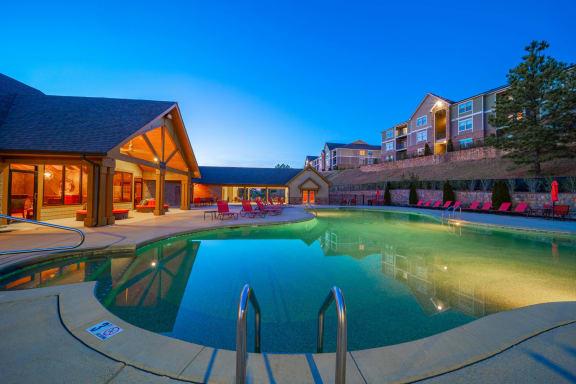 Sparkling Pool   Reserve at Pelham   Luxury Apartments in Pelham, AL