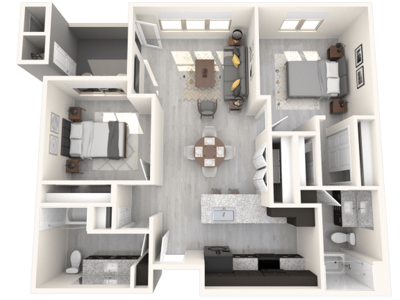 Floor Plan  SAGUARO Floor Plan at The Premiere at Eastmark Apartments, Mesa, AZ, 85212