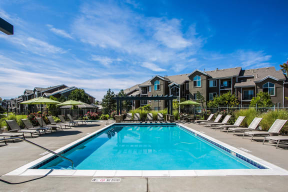 Swimming Pool at Redstone Ranch Apartments in Green Valley Ranch in Denver, CO