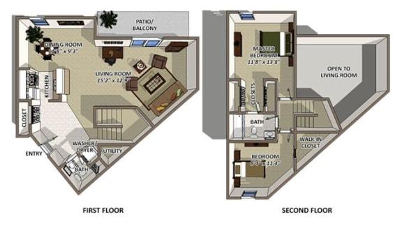 Floor Plan  Nassau floor plan at The Villages of Banyan Grove Apartments for rent in Boynton Beach FL