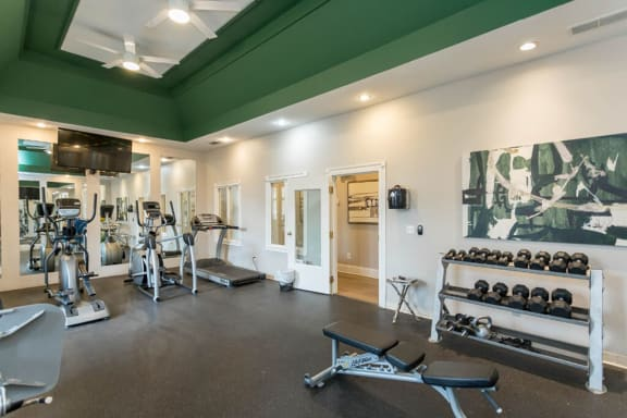 24 Hour Cardio and Strength Training at The Resort At Lake Crossing Apartments, PRG Real Estate, Lexington