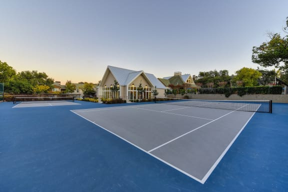 Tennis Courts and Fitness Center with Trees