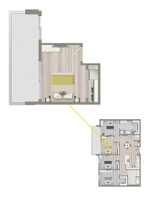 Floor Plan  Ascent Furnished Co-Living Studio Suite C2C