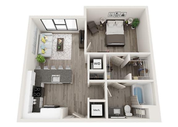Floor Plan  A5 Floor Plan at Link Apartments® Innovation Quarter, North Carolina, 27101