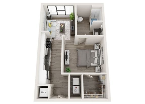 Floor Plan  S3-A Floor Plan at Link Apartments® Innovation Quarter, Winston Salem, NC