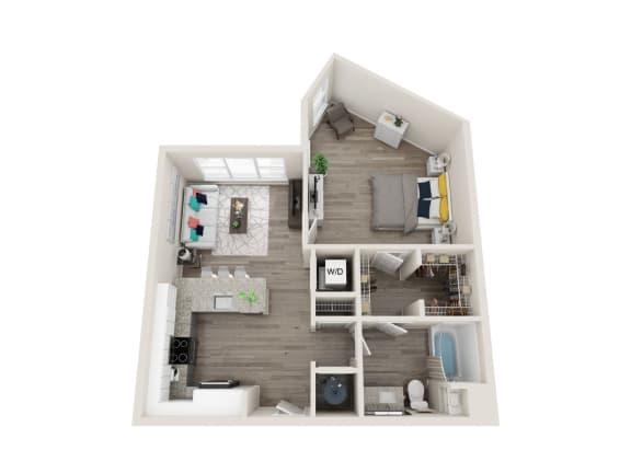 Floor Plan  A7-Alt 1 Bed 1 Bath 822 Sqft Floor Plan at Link Apartments® Grant Park, Atlanta, 30312