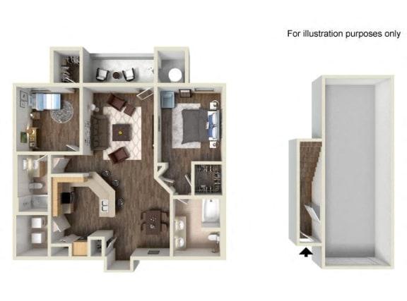 Floor Plan  Residence Two Lower