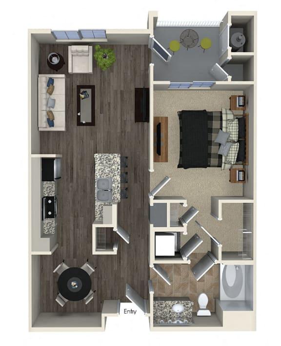 Floor Plan  A1 Floor plan, at SETA, La Mesa, California
