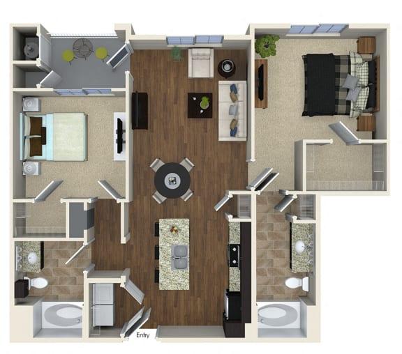Floor Plan  B1 Floor plan, at SETA, 7346 Parkway Dr