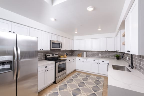 Upgraded stainless steel appliance package