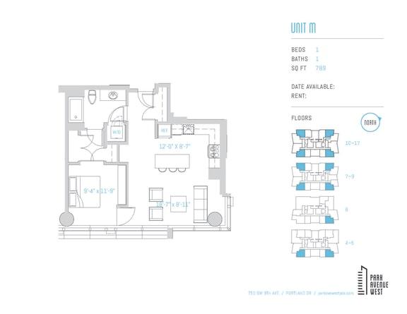 Floor Plan  Unit M