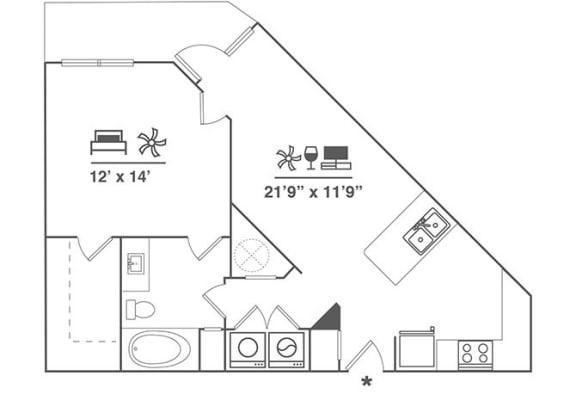 Floor Plan  1X1 A4