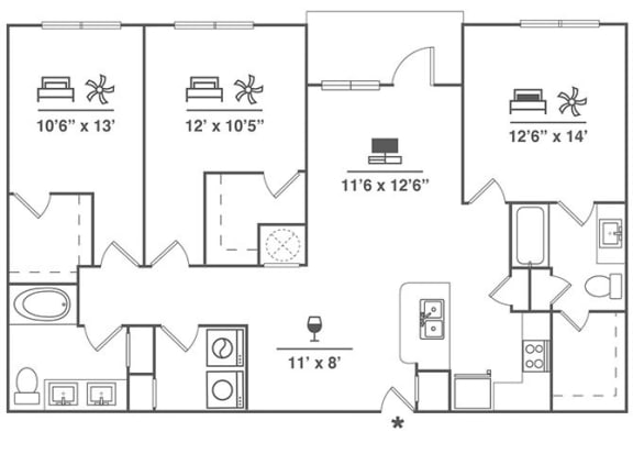 Floor Plan  3x2 C4