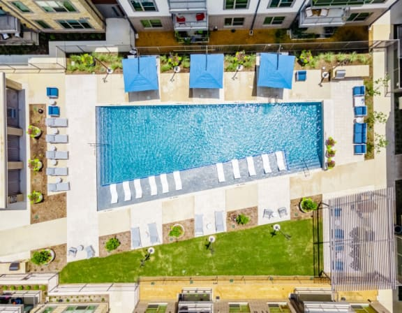 Aerial Pool View|26 at City Point Apartments