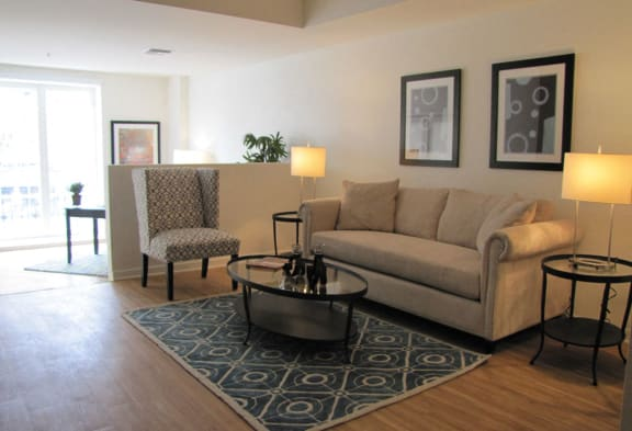 Mayfair Residences living area furnished
