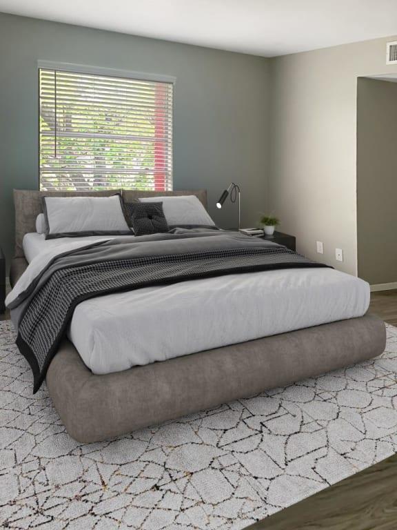 El Castillo Apartments bedroom with decor