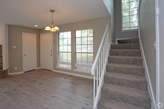 Fielders Crossing Living Area with stairs