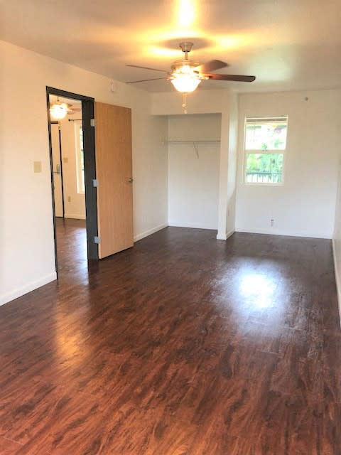 The Waterfront Apartments at Kahului bedroom with closet