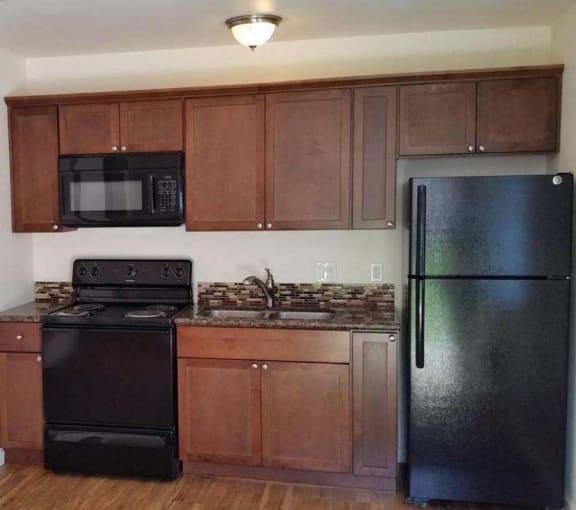 Limoncello Apartments kitchen with appliances