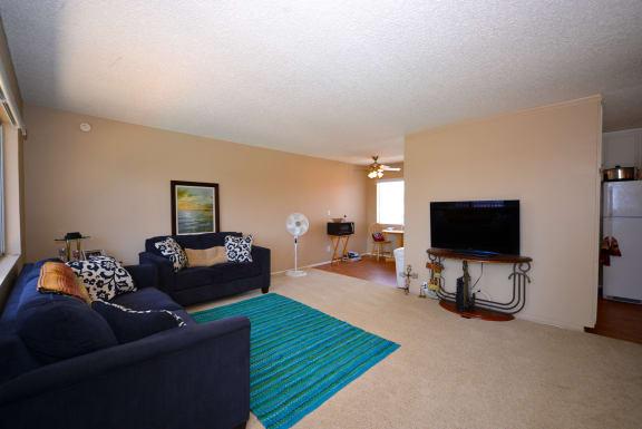 Ocean View Townhomes one bedroom one bathroom living room