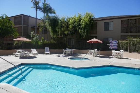 Perigee Apartments Pool Area