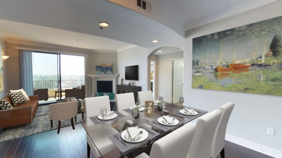 Vista Paradiso three bedroom unit dining room