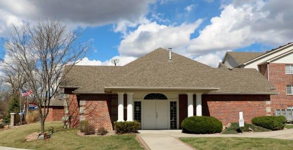 Leasing Center External View at Valley View Estates, Council Bluffs, Iowa