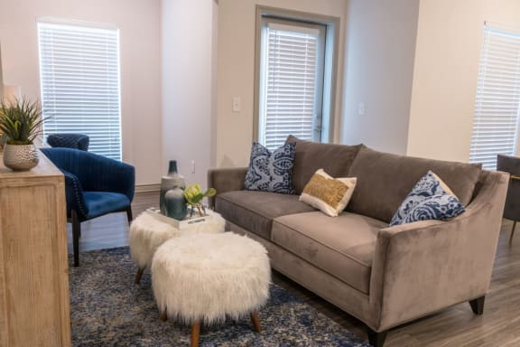 living room in our euless community