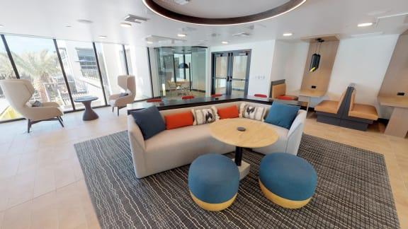 our lobby entertainment center