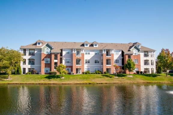 Breathtaking Lake View From Property at The Village on Spring Mill, Carmel, Indiana