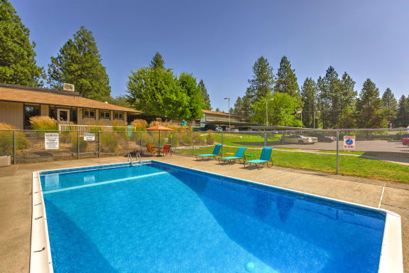 sparkling outdoor swimming pool
