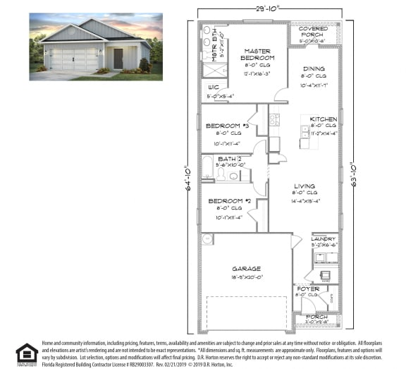 PLAN 1384 Floor Plan at Emerald Lakes South, Mississippi, 39560