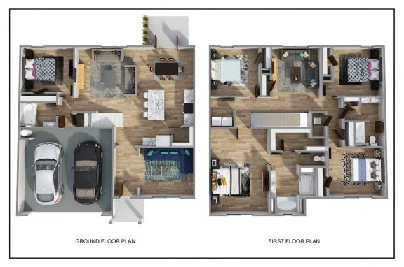 Floor Plan  The Hayden 3D FloorPlan at Rock Ridge, Pensacola, 32526