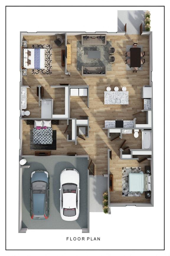 Floor Plan  Lismore 3D FloorPlan at Rock Ridge, Pensacola, FL
