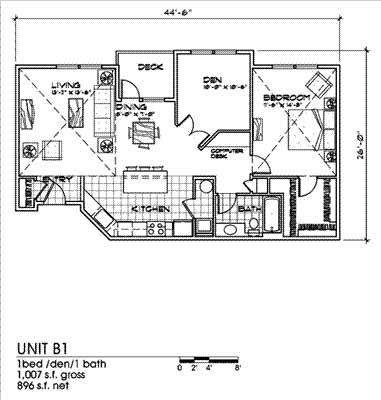 Palermo 1 Bed 1 Bath Floor Plan at Bella Terra Apartments, Washington
