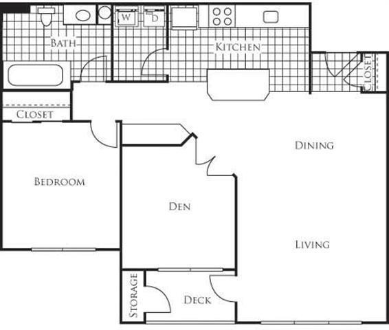 Floor Plan  Palermo 935 1 Bedroom 1 Bathroom Floor Plan at Bella Terra Apartments, Mukilteo, WA, 98275