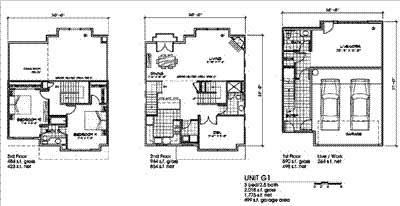 3 Bedroom and 2 Bath Floor Plan at Bella Terra Apartments, Washington, 98275
