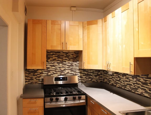 Full Kitchens* with Refrigerator and Gas Stove (In Select Units)