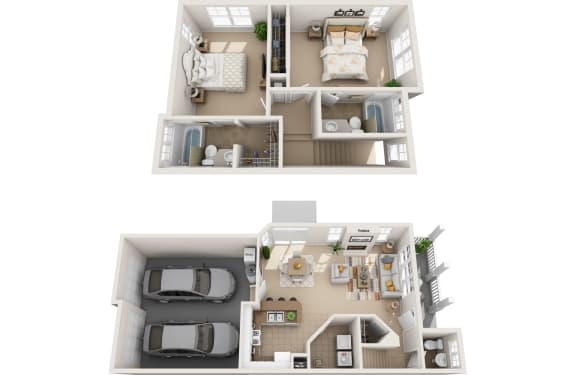 Floor Plan  Cedar 3d fp