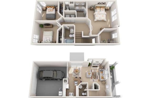 Floor Plan  hemlock 3d floorplan